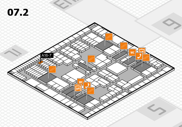 interpack 2017 hall map (Hall 7, level 2): stand A16-7