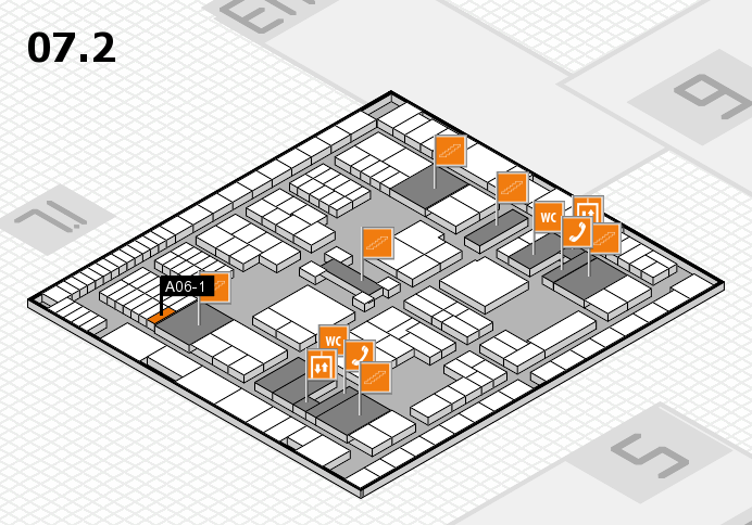 interpack 2017 hall map (Hall 7, level 2): stand A06-1