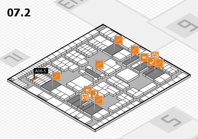 interpack 2017 hall map (Hall 7, level 2): stand A06-5