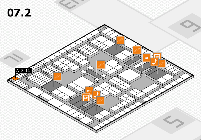 interpack 2017 hall map (Hall 7, level 2): stand A13-14
