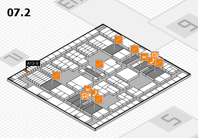interpack 2017 hall map (Hall 7, level 2): stand A13-9