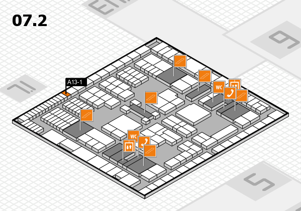 interpack 2017 hall map (Hall 7, level 2): stand A13-1