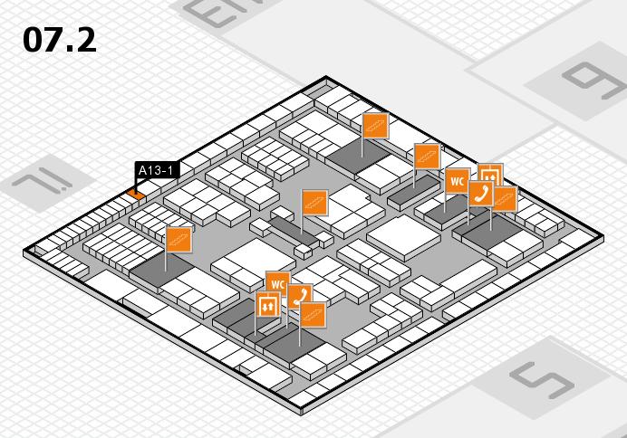 interpack 2017 Hallenplan (Halle 7, Ebene 2): Stand A13-1