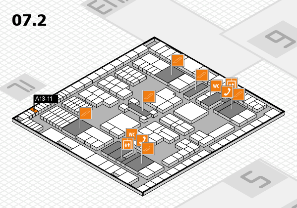 interpack 2017 hall map (Hall 7, level 2): stand A13-11