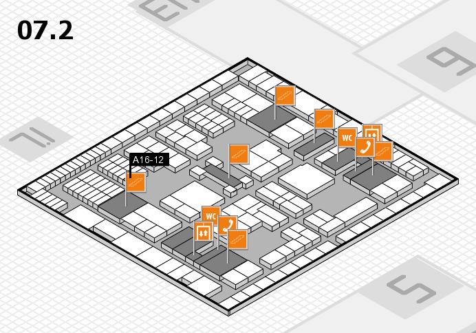 interpack 2017 Hallenplan (Halle 7, Ebene 2): Stand A16-12