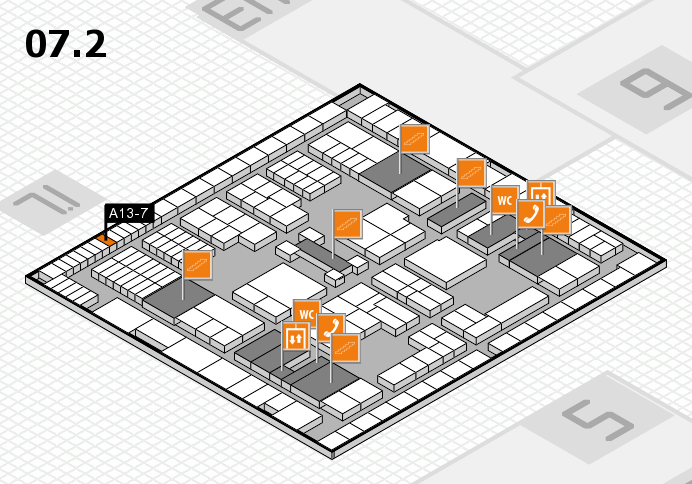 interpack 2017 hall map (Hall 7, level 2): stand A13-7