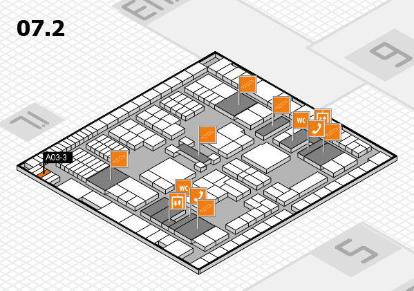 interpack 2017 hall map (Hall 7, level 2): stand A03-3