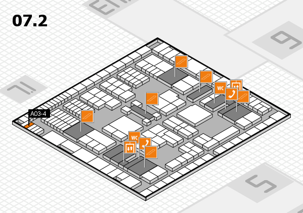 interpack 2017 hall map (Hall 7, level 2): stand A03-4