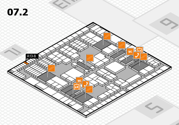 interpack 2017 hall map (Hall 7, level 2): stand A13-8