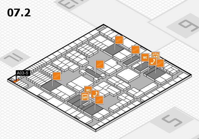 interpack 2017 Hallenplan (Halle 7, Ebene 2): Stand A03-5