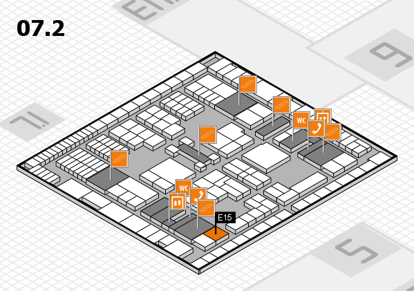 interpack 2017 hall map (Hall 7, level 2): stand E15