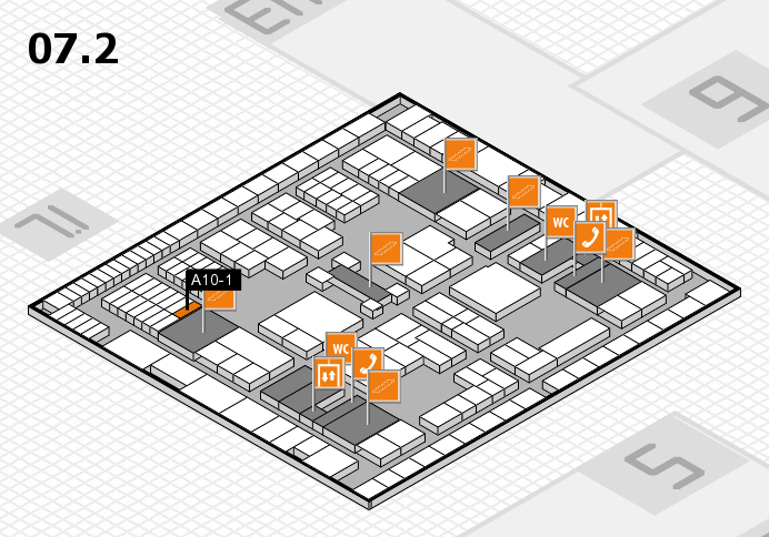 interpack 2017 hall map (Hall 7, level 2): stand A10-1