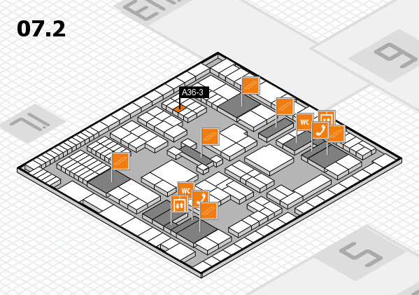 interpack 2017 hall map (Hall 7, level 2): stand A36-3