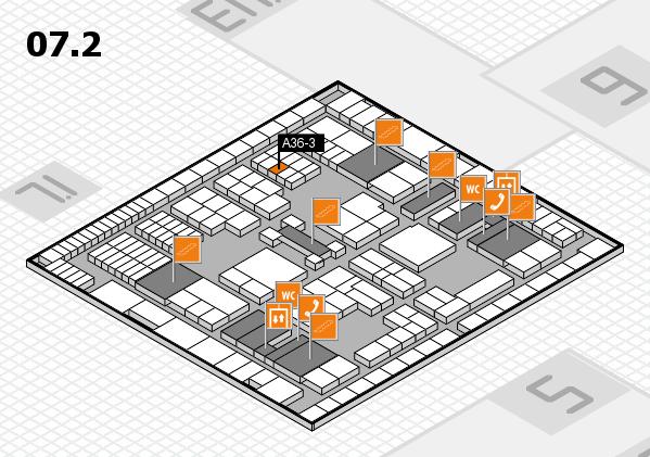 interpack 2017 Hallenplan (Halle 7, Ebene 2): Stand A36-3