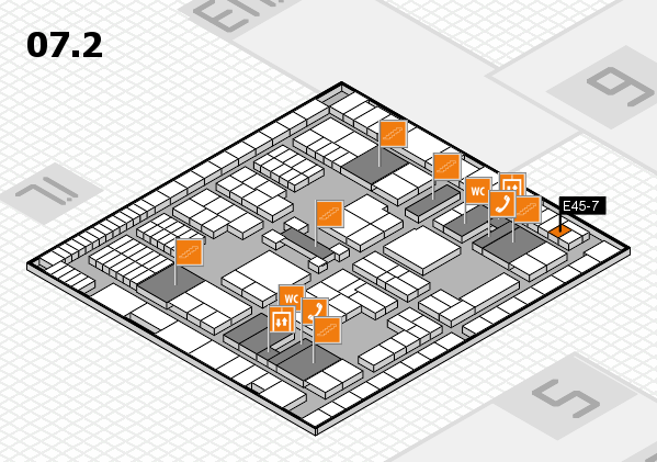 interpack 2017 hall map (Hall 7, level 2): stand E45-7