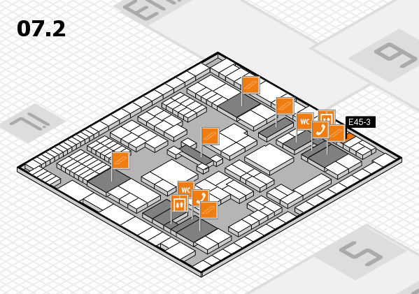 interpack 2017 hall map (Hall 7, level 2): stand E45-3