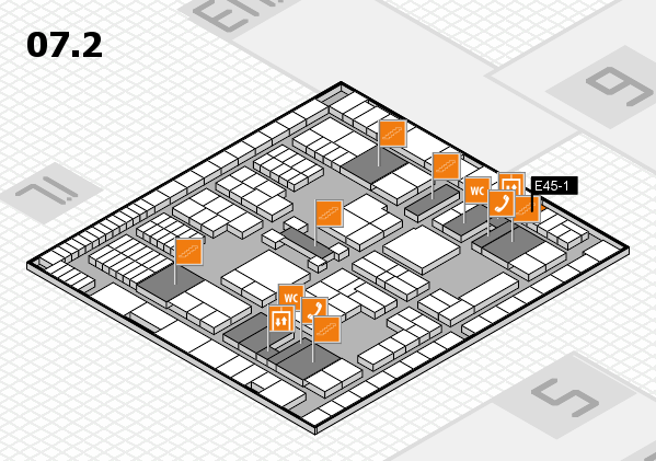 interpack 2017 hall map (Hall 7, level 2): stand E45-1