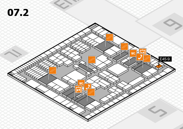 interpack 2017 hall map (Hall 7, level 2): stand E45-9