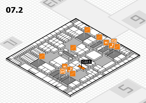 interpack 2017 hall map (Hall 7, level 2): stand C22-5