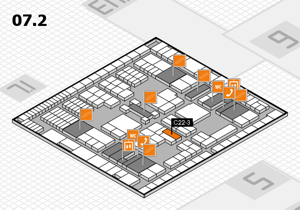 interpack 2017 hall map (Hall 7, level 2): stand C22-3