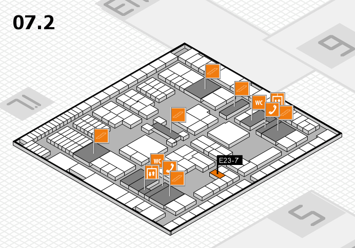 interpack 2017 hall map (Hall 7, level 2): stand E23-7