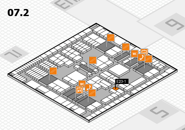 interpack 2017 hall map (Hall 7, level 2): stand E23-1