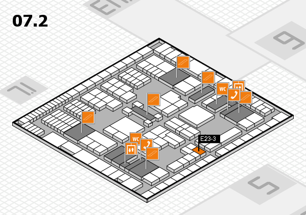 interpack 2017 hall map (Hall 7, level 2): stand E23-3