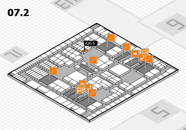 interpack 2017 hall map (Hall 7, level 2): stand A36-5