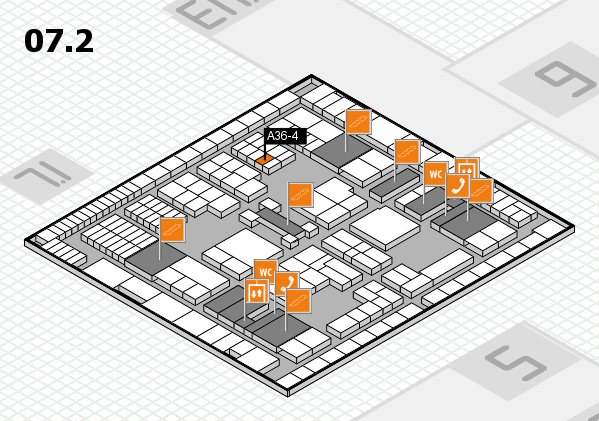 interpack 2017 hall map (Hall 7, level 2): stand A36-4