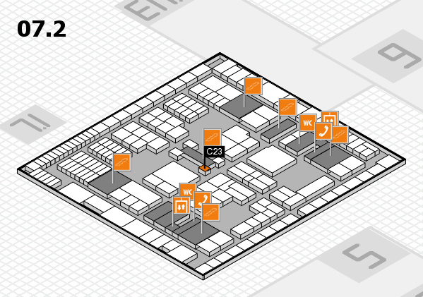 interpack 2017 hall map (Hall 7, level 2): stand C23