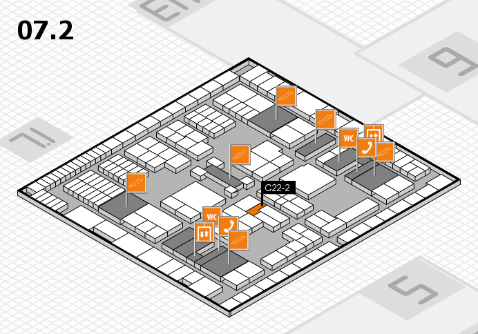 interpack 2017 hall map (Hall 7, level 2): stand C22-2