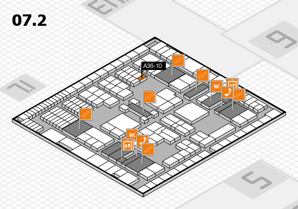 interpack 2017 hall map (Hall 7, level 2): stand A36-10