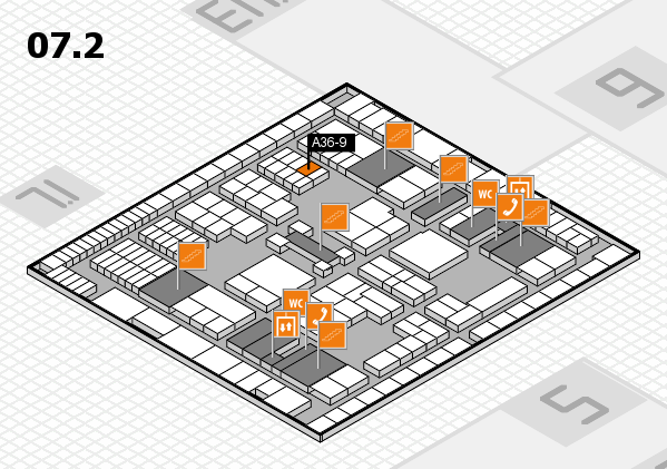 interpack 2017 hall map (Hall 7, level 2): stand A36-9