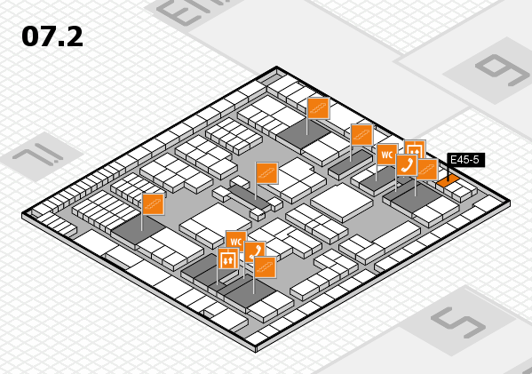 interpack 2017 hall map (Hall 7, level 2): stand E45-5