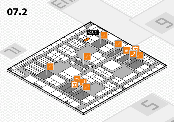 interpack 2017 hall map (Hall 7, level 2): stand A38-3