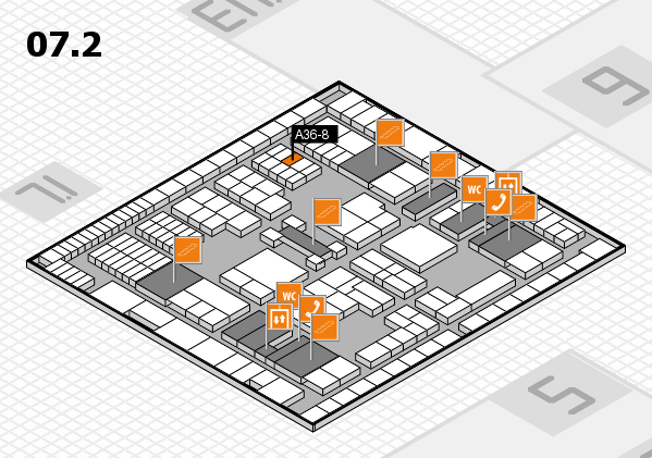 interpack 2017 hall map (Hall 7, level 2): stand A36-8