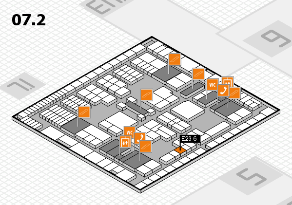 interpack 2017 hall map (Hall 7, level 2): stand E23-6