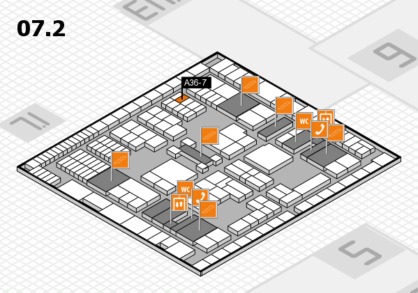 interpack 2017 hall map (Hall 7, level 2): stand A36-7