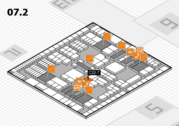 interpack 2017 hall map (Hall 7, level 2): stand C22-7