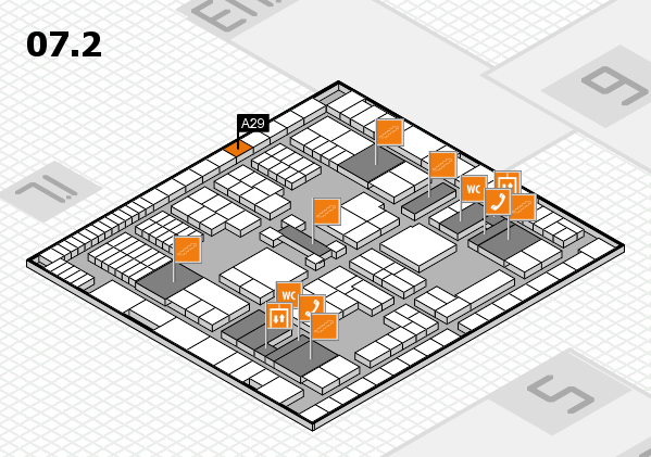 interpack 2017 hall map (Hall 7, level 2): stand A29