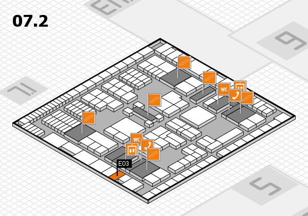 interpack 2017 hall map (Hall 7, level 2): stand E03