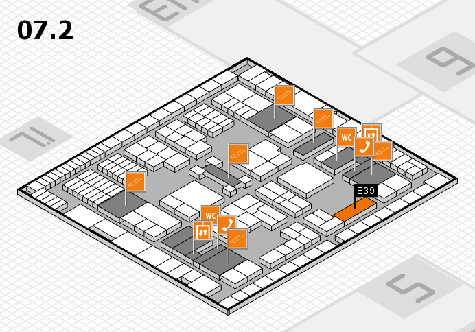interpack 2017 hall map (Hall 7, level 2): stand E39