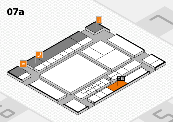 interpack 2017 hall map (Hall 7a): stand D19