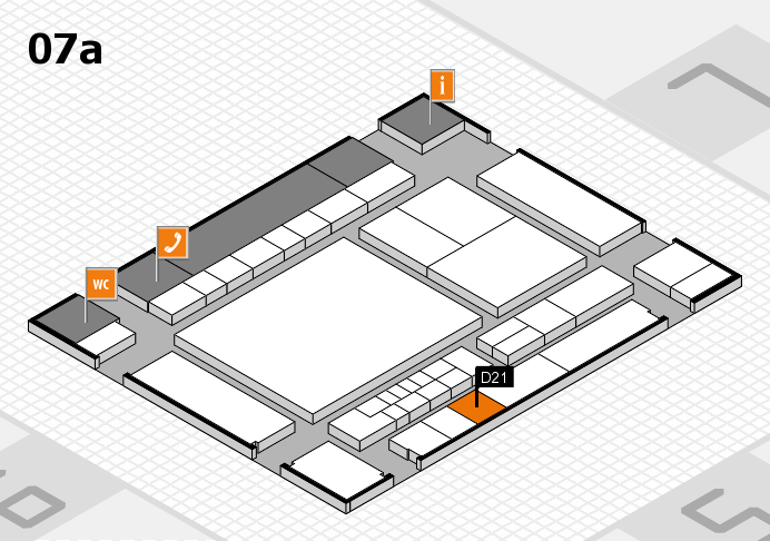 interpack 2017 hall map (Hall 7a): stand D21