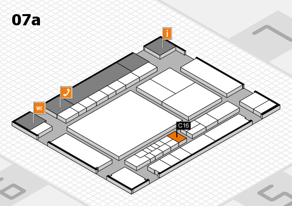 interpack 2017 Hallenplan (Halle 7a): Stand C16