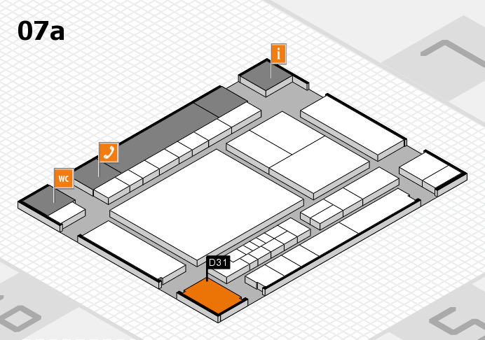 interpack 2017 Hallenplan (Halle 7a): Stand D31