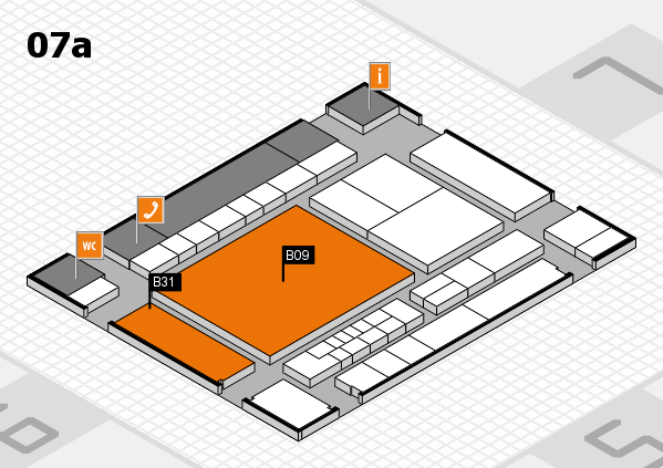 interpack 2017 hall map (Hall 7a): stand B09, stand B31