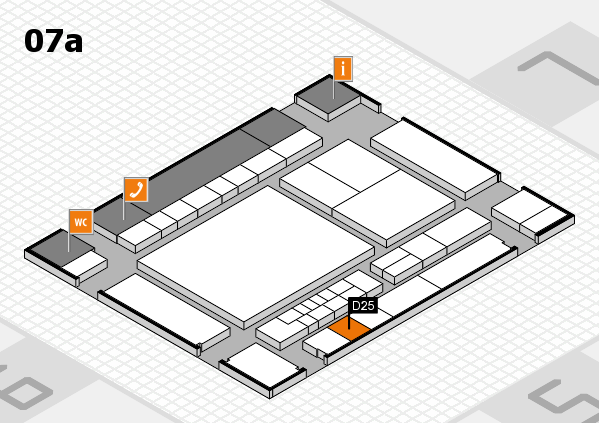 interpack 2017 hall map (Hall 7a): stand D25