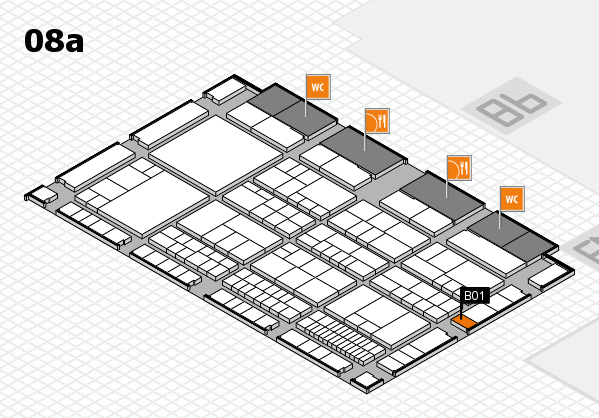 interpack 2017 hall map (Hall 8a): stand B01