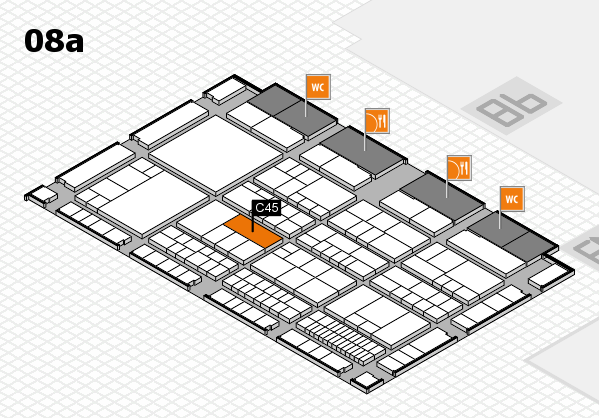 interpack 2017 hall map (Hall 8a): stand C45